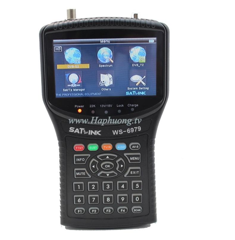 Máy đo TH truyền hình DVB-S/S2/T2 Satlink WS-6979